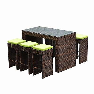 Rattan Bar-Set Palma / Rattangarnitur / Sitzgarnitur / Gartenmöbel / Gartengarnitur / Rattanmöbel / Gartenbar / Sitzgruppe / Outdoor - Sonderaktion
