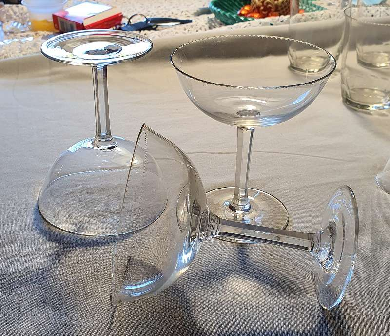 Champagnerschale Jugendstil Art deco Gläsergearnitur 24 teilig geschliffen MOSER Karlsbad ?