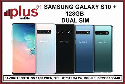 SAMSUNG GALAXY S10 PLUS 128GB SCHWARZ, GEBRACUHT, IN GUTEN ZUSTAND, TOPZUSTAND, WERKSOFFEN, GARANTIE, PLUS MOBILE !