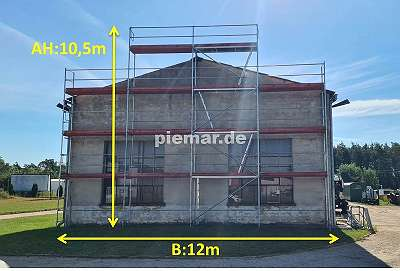 Fassadengerüst Holzböden Baugerüst NEU Gerüst Typ Plettac 117 qm mit Bordbretter