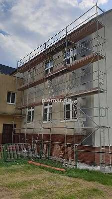 NEU Typ Layhergerüst ca. 54 m² Rahmen Stahlböden 2,57 m Layher Baugerüst Gerüst