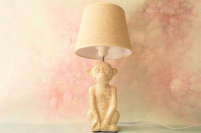 Elegante Tischlampe im angesagten Jungle-Look – Höhe ca.: 46 cm Licht Leuchte Affe Monkey Afrika Dschungl Südamerika Safari Tropen Deko Geschenk