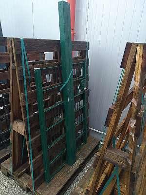 Gartentür / Zauntor / Gartentor, 1-flügelig, Gesamtbreite: 107 cm, Durchgangslichte: 95 cm, Höhe: 123 cm, grün, 2. Wahl
