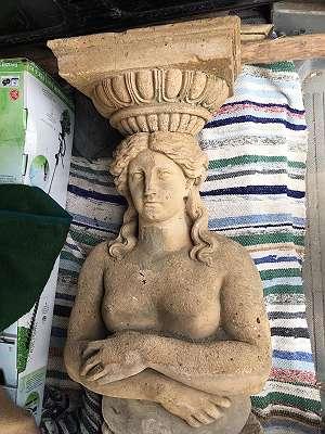 Alte Terrakotta Figur Statue