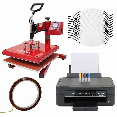 10 Gesichtsmasken für den Sublimationsdruck, Schwingpresse & Epson Drucker 27619