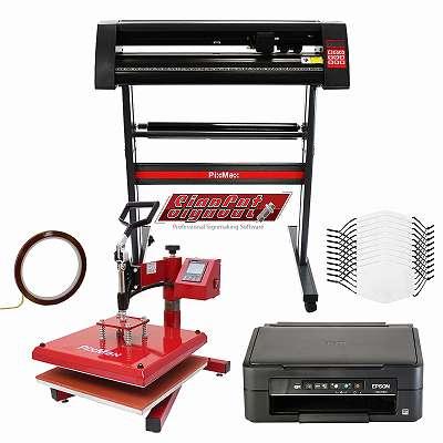 10 Gesichtsmasken, Schwingpresse, Epson Drucker, Schneideplotter & Signcut Pro 27683