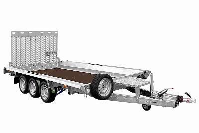 PKW Anhänger, Baumaschinenanhänger BUILDER 3 4018/3 S - 3500kg mit Klappe 1800x 1500mm