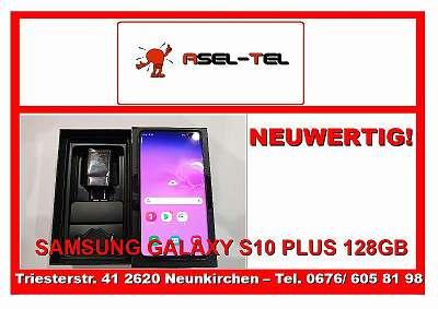 NEUWERTIGES WERKSOFFENES SAMSUNG GALAXY S10 PLUS 128GB IN BLACK LAGERND!