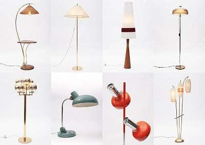 Mid-Century Vintage Stehlampen Tischlampen Lampen