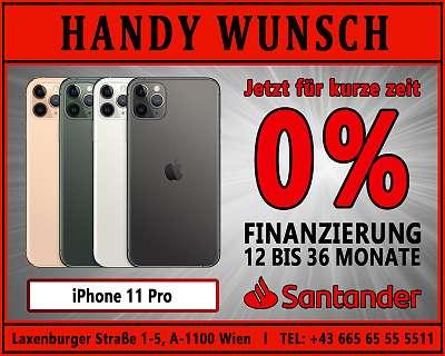0% Finanzierung! iPhone 11 PRO / ORIGINAL VERPACKT / HANDYWUNSCH