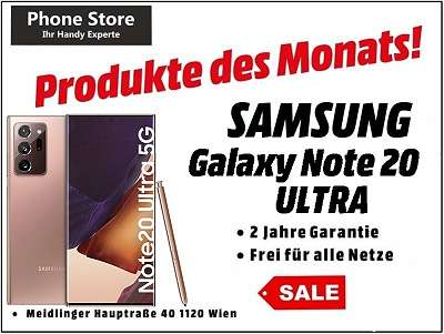 Samsung Galaxy Note 20 Ultra 5G N986B/ DS 256GB mystic bronze / NEU, Verpackung geöffnet / Werksoffen, Frei Für Alle Simkarten/ Mit 24 Monate Hersteller Garantie
