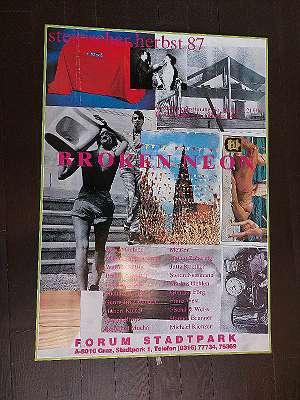 Vintage Plakat Steirischer Herbst 1987