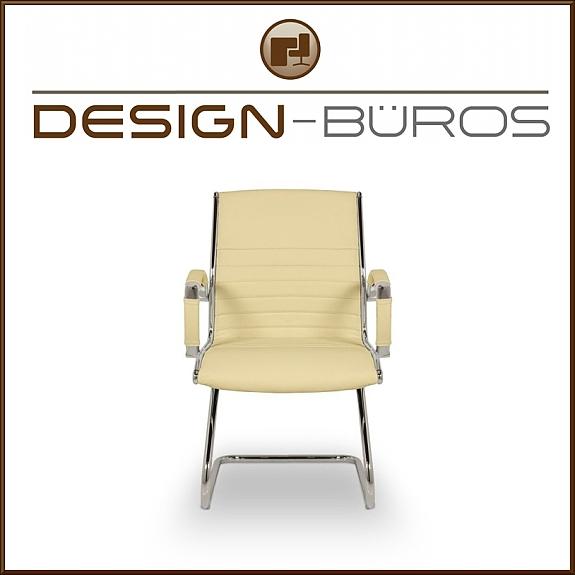 schwingstuhl besucherstuhl chefsessel leder beige b rostuhl b ro stuhl sessel 249 1010. Black Bedroom Furniture Sets. Home Design Ideas