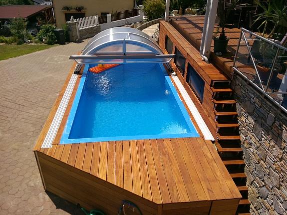 polypropylenpool 6 x 3 m inkl berdachung technikschacht technik muck pool. Black Bedroom Furniture Sets. Home Design Ideas