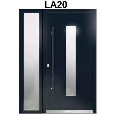 WeltHaus Haustür WH75 Aluminium mit Kunststoff Tür LA20 Türen +1 Seitenteile++ Inklusive Flügelüberdeckend Sehr Schöne Haustür A++