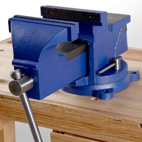 AKTION! NEU Schraubstock 125 mm Parallel drehbar 360 Grad mit Amboss und Drehteller f u00fcr