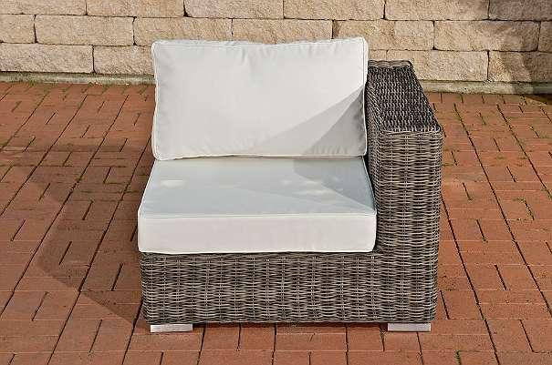 Gartenmobel Teak Mit Edelstahl : Garnitur ARIANO graumeliert C NEU Gartenmöbel Gartengarnitur Sofa