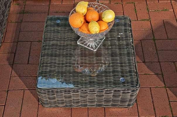 Garnitur ARIANO graumeliert C NEU Gartenmöbel Gartengarnitur Sofa [R