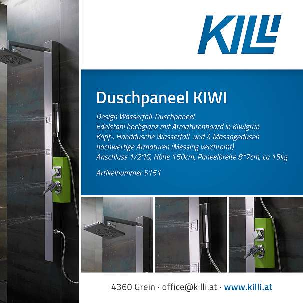 Designduschpaneel KIWI Abverkauf Restposten, ? 149, (4360