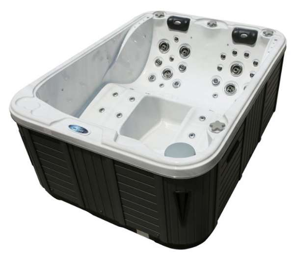 jacuzzi outdoorpool pool whirlpool bali eco 3 personen mit 2 motoren und uv c lampe. Black Bedroom Furniture Sets. Home Design Ideas