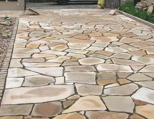 Sandstein Pflasterplatten Abverkauf Terrasse Platten Polygonal 24