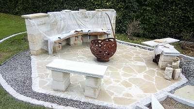 Sandstein Pflasterplatten Terrasse Platten Polygonal