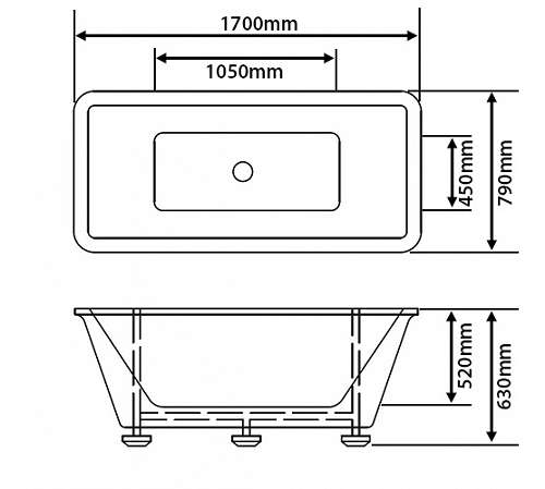 freistehende badewanne acryl rechteckig aruba 599 1190 wien. Black Bedroom Furniture Sets. Home Design Ideas