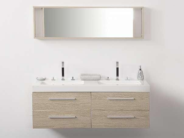 badm belset mit waschbecken badezimmer schrank und spiegel badm bel beige malaga 789. Black Bedroom Furniture Sets. Home Design Ideas