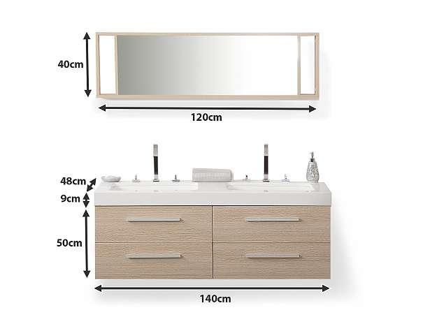 badm belset mit waschbecken badezimmer schrank und spiegel badm bel beige malaga 699. Black Bedroom Furniture Sets. Home Design Ideas