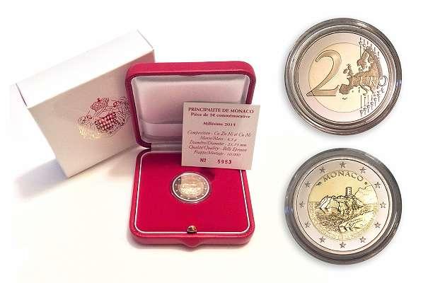 2 Euro Münze Sondermünze Gedenkmünze Monaco 2015 Pp Nur 10000