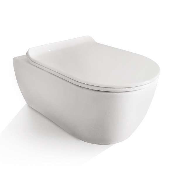 soho h nge wand wc ohne untersp lrand toilette brillant weiss mit ultra slim wc sitz 229. Black Bedroom Furniture Sets. Home Design Ideas