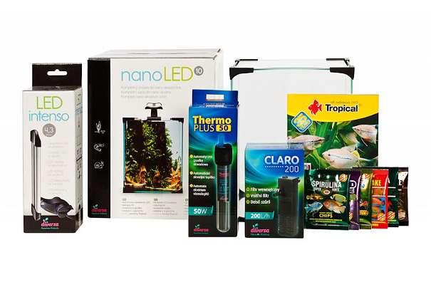 Nano LED 10 Set Aktion! - Gaweinstal - Nano LED 10 Set enthaltet:Aquarium 20x20x25Moderne LED Beleuchtung 4.2WPlastik EckenGlas Abdeckung f?r obenInnenfilter mit Leistungsfähigkeit von 200L/h mit Durchflussregelung, komplett mit AnschlüssenThermostatheizer mit Leistung von 50WGr - Gaweinstal