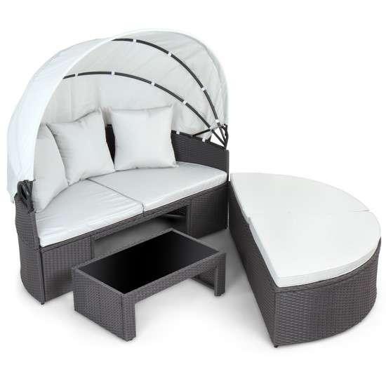 polyrattan sonneninsel gartenm bel sitzgarnitur. Black Bedroom Furniture Sets. Home Design Ideas