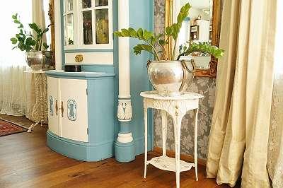 Neuer Beistelltisch aus Eisen im Stil des Art Nouveau / Jugendstil floral Tischerl Blumentisch Beistelltisch Nachtkasterl Nachttischerl weiß