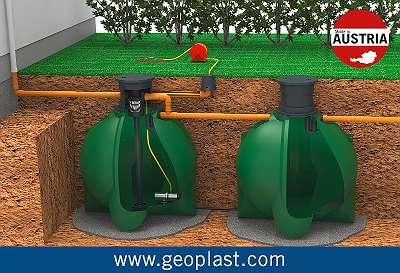 Regenwasser Kombinationstanks von 8.400 bis 12.400 Liter - Index Nr: 124447