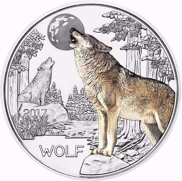3 Euro Münze österreich 2017 Wolf Tier Taler Serie 4490