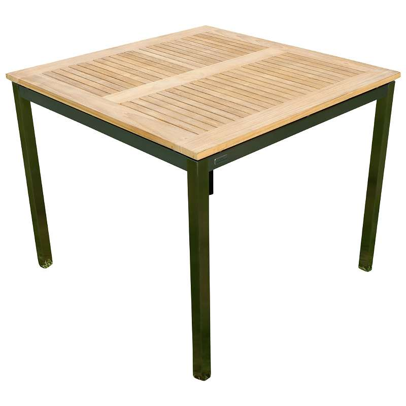 Edelstahl Teak Gartentisch 90x90 cm Holztisch Esstisch Tisch massive ...