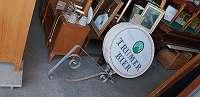 SONDERABHOLPREIS-Werbeschild mit Eisenaufhängung beleuchtbar-JEDEN SAMSTAG VON 8-12 UHR GEÖFFNET-Über 400 weitere Artikel im Willhaben Shop unter