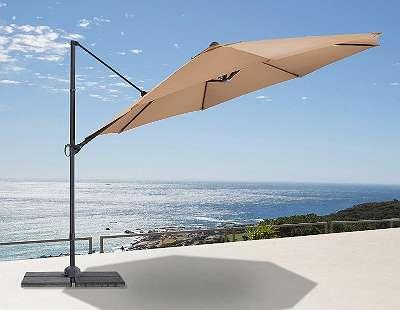 °Abverkauf° Ampelschirm Marbell sand Ø 350 cm Sonnenschutz Sonnenschirm Gartenschirm Garten