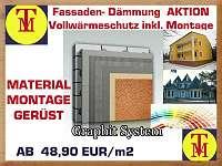 Fassadendämmung - Vollwärmeschutz - Graphit System- Dämmung Ihrer Fassade Komplettpaket ( Material mit Montage und Gerüst) PREISHIT *