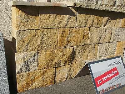 Sandstein MAUERSTEIN gesägtGarten Stein Mauer Naturstein