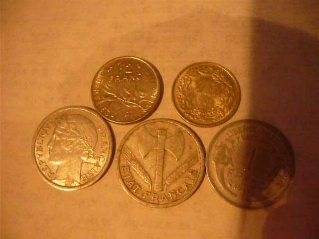 Französische Münzen 1 Fr 12 Fr Anno 1950 8 8073
