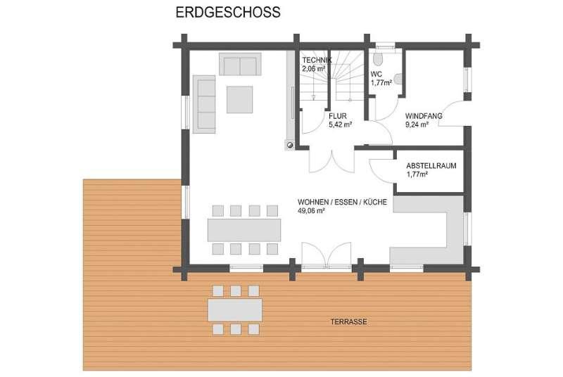 Sehr schönes Blockhaus mit Grundstück in Amlach zu verkaufen