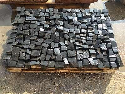 Alte Basalt Pflastersteine 4 x 6 Basaltpflaster, Granitsteine, Kopfsteinpflaster, Basaltwürfel, Mosaikpflaster, Gartendekoration, Bodenbeläge, 100 m2 - 3900 Euro Netto Höchste QUALITÄT