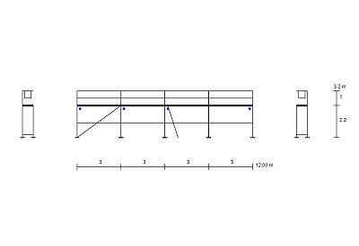 Baugerüst Fassadengerüst Typ Plettac 54 qm ohne Zulassung Typ Plettac Gerüst Stahlrahmen Kompatibiles NEU
