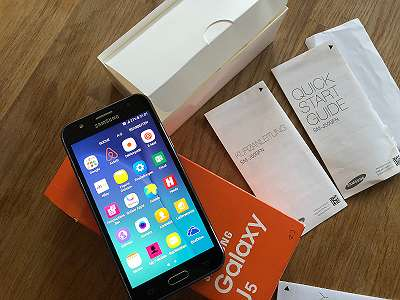 Samsung Galaxy J5 / Hülle 5.0 Entsperrt Silber SM-J500FN mk1 zz 012 tng mbi