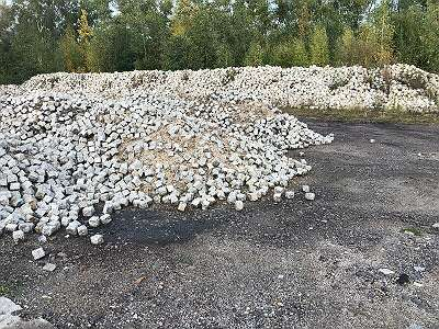 Alte Granit Pflastersteine 18 x 20 Granitpflaster, Granitsteine, Kopfsteinpflaster, Granitwürfel, Gartendekoration, Großpflaster, Bodenbeläge, 25 T - 2875 Euro Netto Höchste QUALITÄT TOP ANGEBOT!
