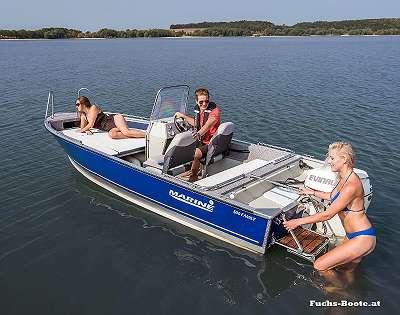 Marine Aluboot Aluminiumboot Familienboot Fuchs Boote 500 Family
