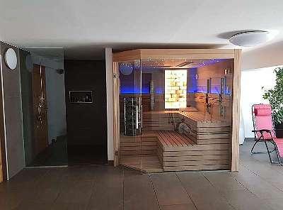 Luxus Kombi Sauna