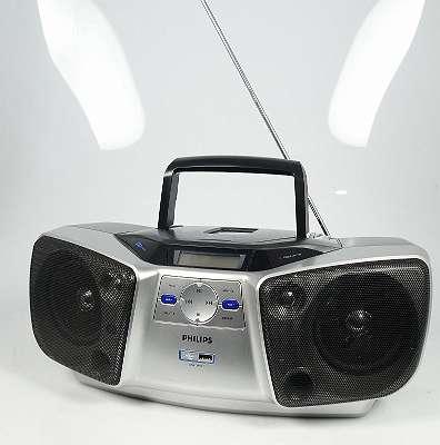 PHILIPS AZ 1840 TRAGBARER CD PLAYER RADIO MIT USB EINGANG